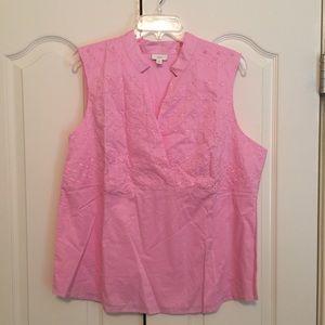 J Jill pink sleeveless blouse